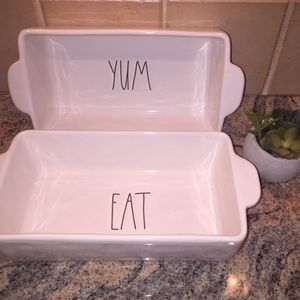 Rae Dunn Eat & Yum Loaf Plate